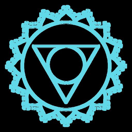 Vishuddha chakra icono de trazo