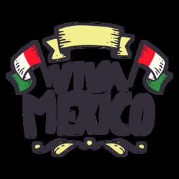 Etiqueta da fita da bandeira de Viva México