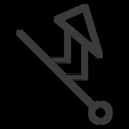 Curso de triângulo de círculo de varinha