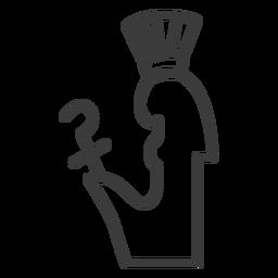 Varita cetro cetro corona faraón trazo