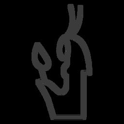 Wand scepter sceptre pharaoh crown stroke