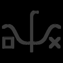 Wand square cross stroke