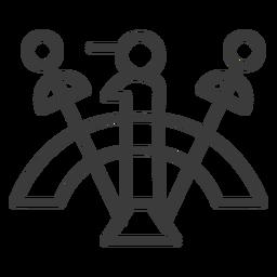 Figura de círculo de pessoal de varinha curso de divindade de arco