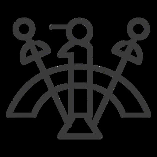 Figura de círculo de pessoal de varinha curso de divindade de arco Transparent PNG