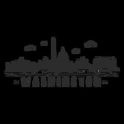 Adesivo de skyline de monumento de casa branca de Washington