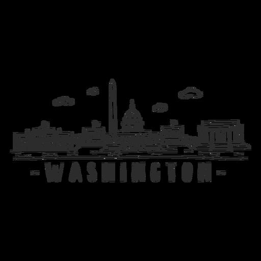 Washington white house monument skyline sticker