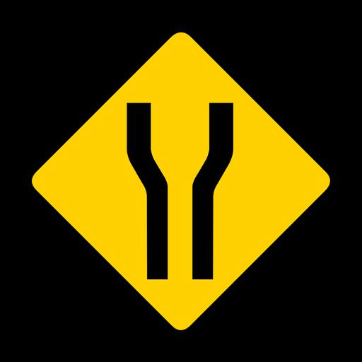 Ampliación del rombo de advertencia plana. Transparent PNG