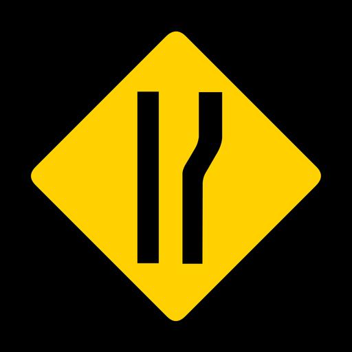 Ampliación del rombo derecho de advertencia plana Transparent PNG