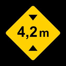Width meter metr road rhomb warning flat