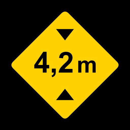 Width meter metr road rhomb warning flat Transparent PNG