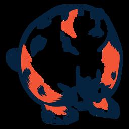 Wild beaver illustration