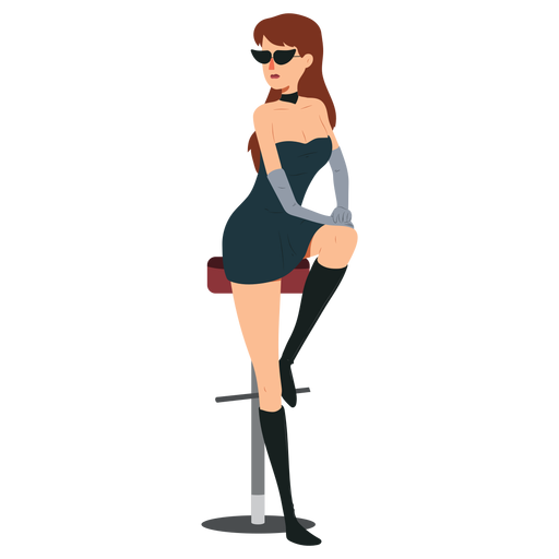 Mujer vestido sexy personaje Transparent PNG
