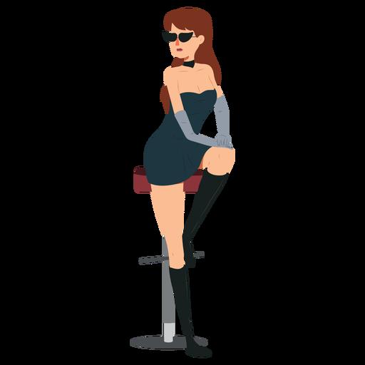 Mulher vestido sexy personagem Transparent PNG