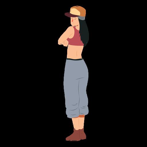 Ilustración de personaje de mujer raper hip hop Transparent PNG