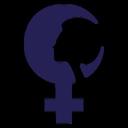 Día de la mujer cara icono de silueta