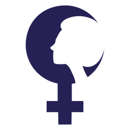 Ícone de silhueta de rosto de dia das mulheres