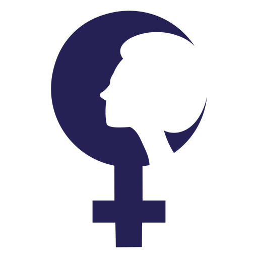 Womens day face silhouette icon Transparent PNG