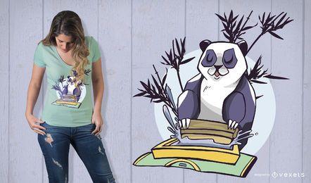 Serigrafía Panda diseño de camiseta