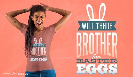 Diseño de camiseta de Brother para Huevos
