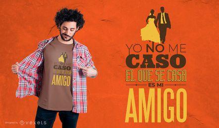 Projeto espanhol do t-shirt das citações do casamen