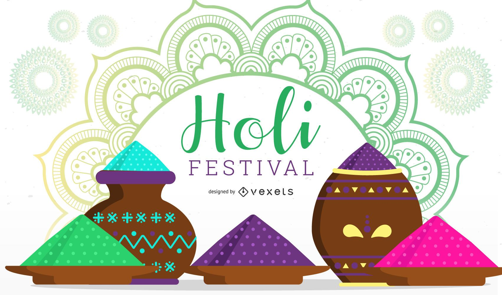 Holi Festival Illustration Design