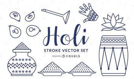 Iconos del festival holi