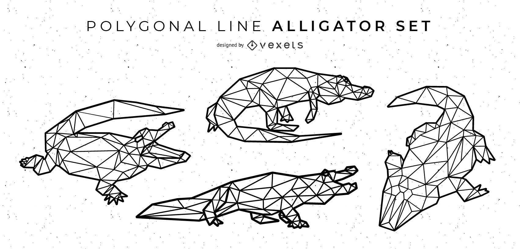 Polygonal Line Alligator Design