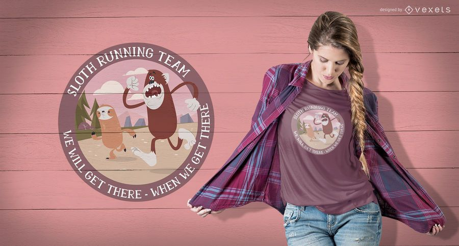 Running Sloth T-Shirt Design