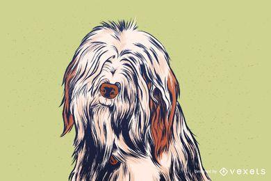 Ilustração de contorno de cachorro