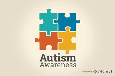Ilustração de conscientização do autismo