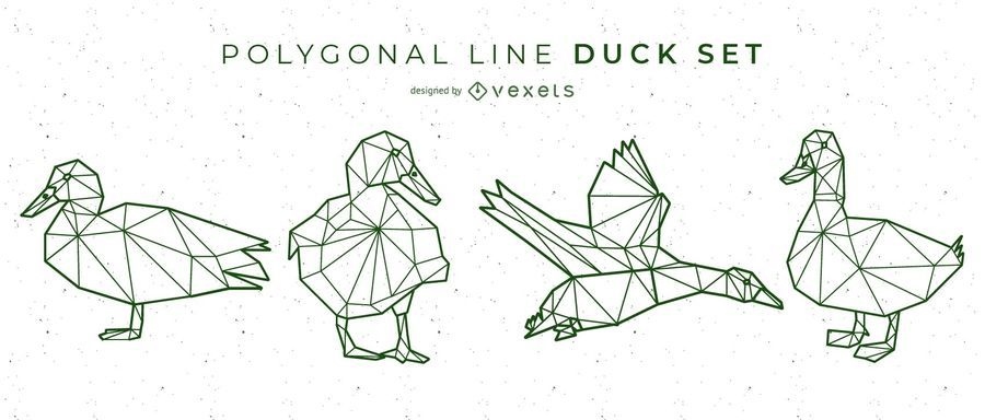 Polygonal Line Duck Design