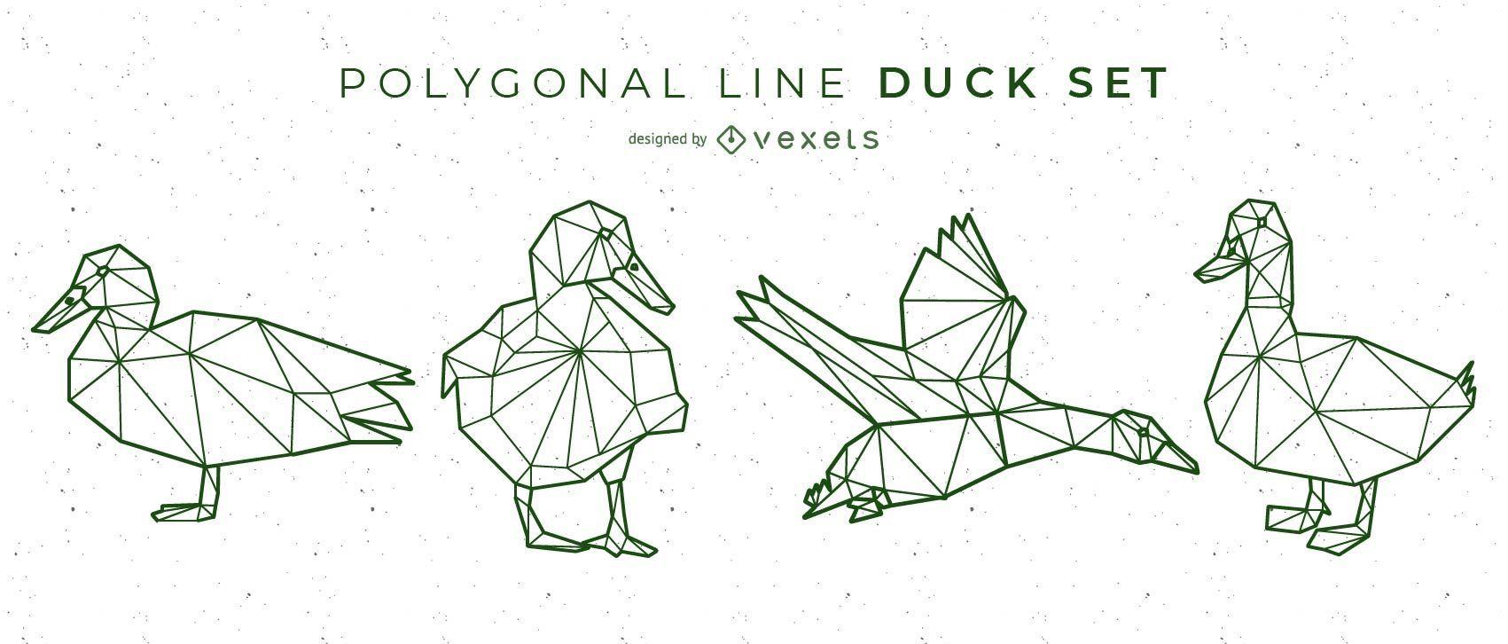 Diseño de pato de línea poligonal