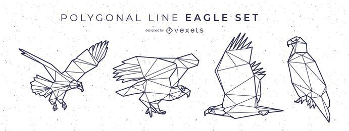 Polygonal Line Eagle Design