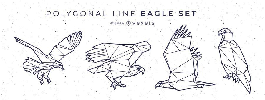 Polygonal Line Eagle Design