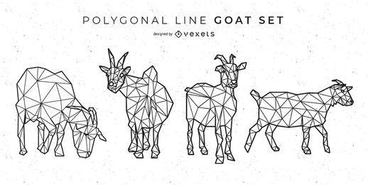 Línea poligonal de cabra de diseño