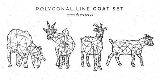 Polygonale Linie Ziege Design