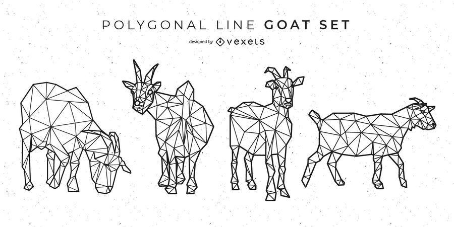 Linha de cabra poligonal
