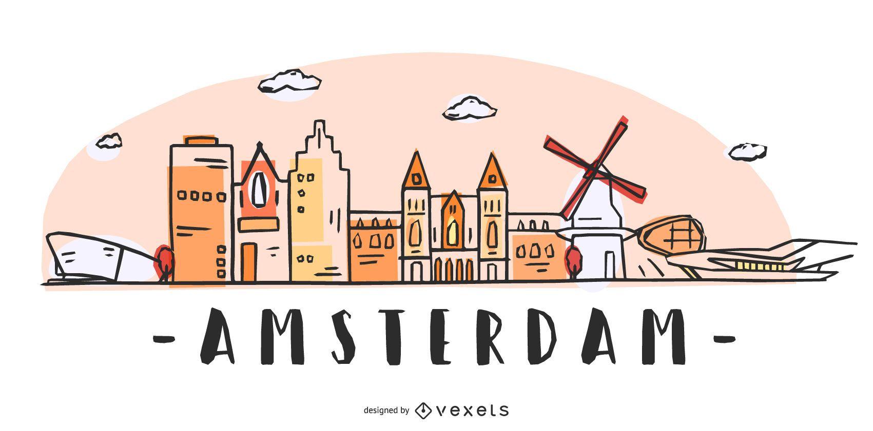 Diseño del horizonte de Amsterdam