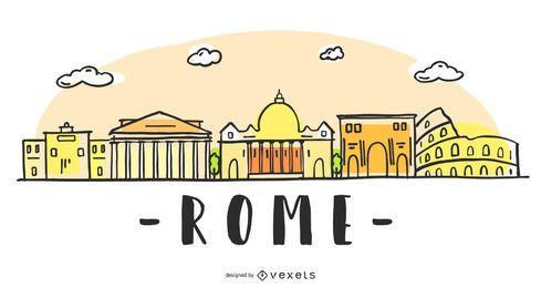 Diseño del horizonte de roma