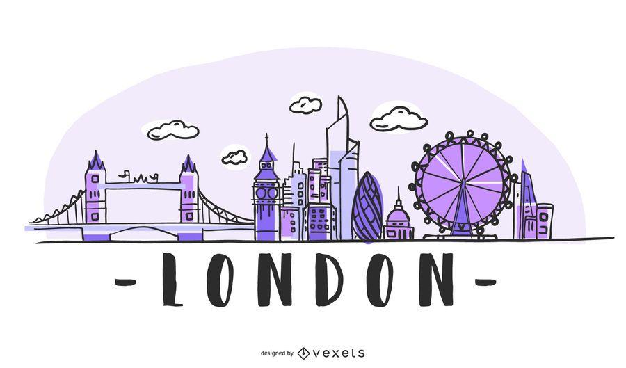 Design de horizonte de Londres