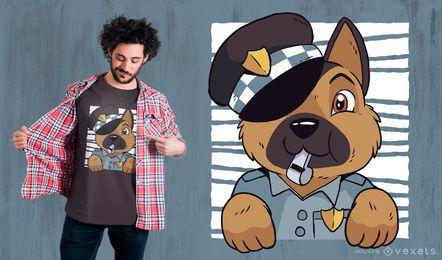 Schäferhund-Polizei-T-Shirt Entwurf