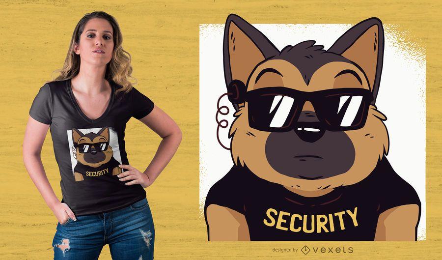 Diseño de camiseta de seguridad del pastor alemán