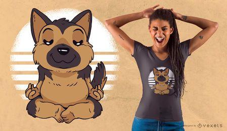 Deutscher Schäferhund-Yoga-T-Shirt Entwurf