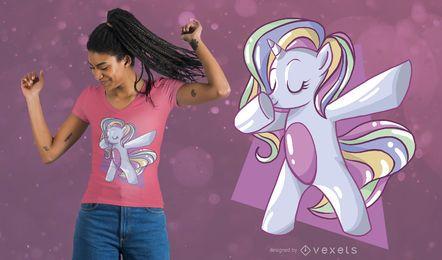Projeto do t-shirt do unicórnio do arco-íris