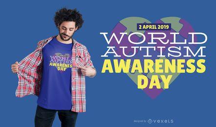Diseño de la camiseta de la conciencia del autismo