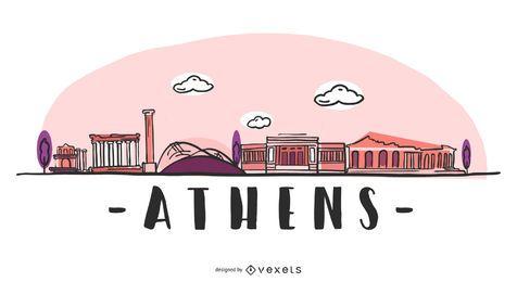 Diseño del horizonte de Atenas