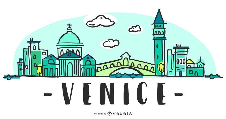 Venice Skyline Illustration