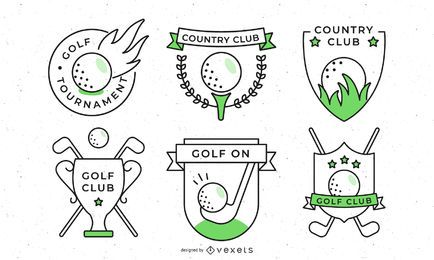 Golf Sport Badges Collection