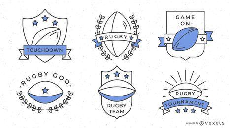 Rugby-Sport-Abzeichen Design