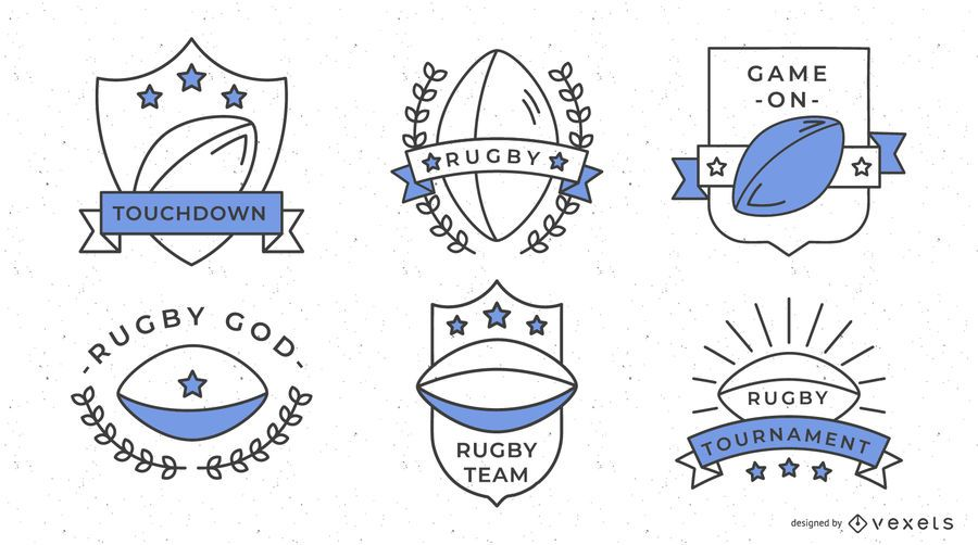Rugby Sport Badges Design
